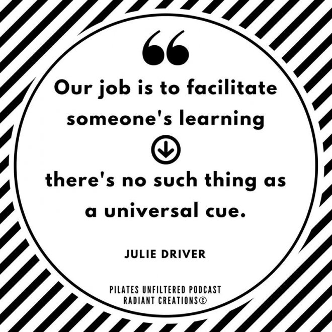 Julie Driver Quote Pilates Unfiltered Jenna Zaffino 1